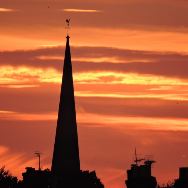 """""""Evening Sunset Over Hereford"""" stock image"""
