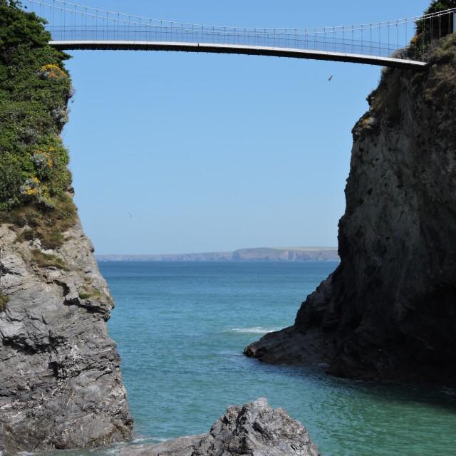 """Bridge Over Towan Beach"" stock image"