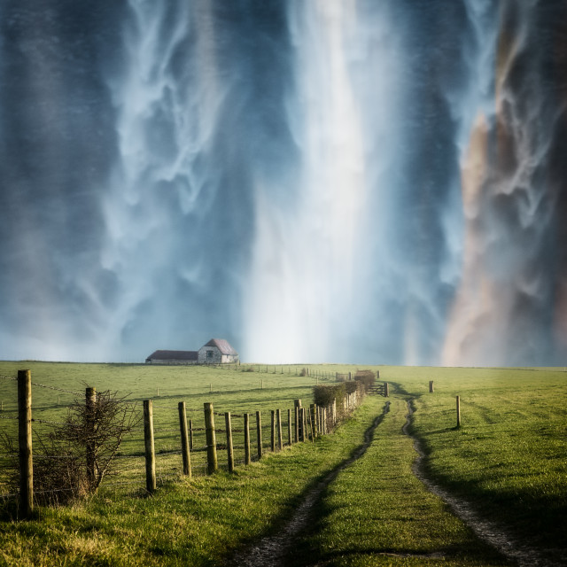 """Surreal waterfall"" stock image"