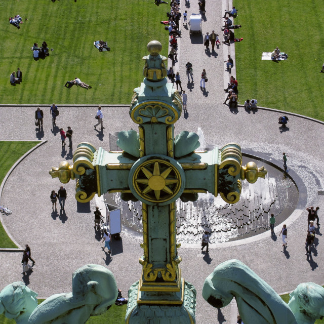 """""""View from the roof of Berlin Cathedral"""" stock image"""