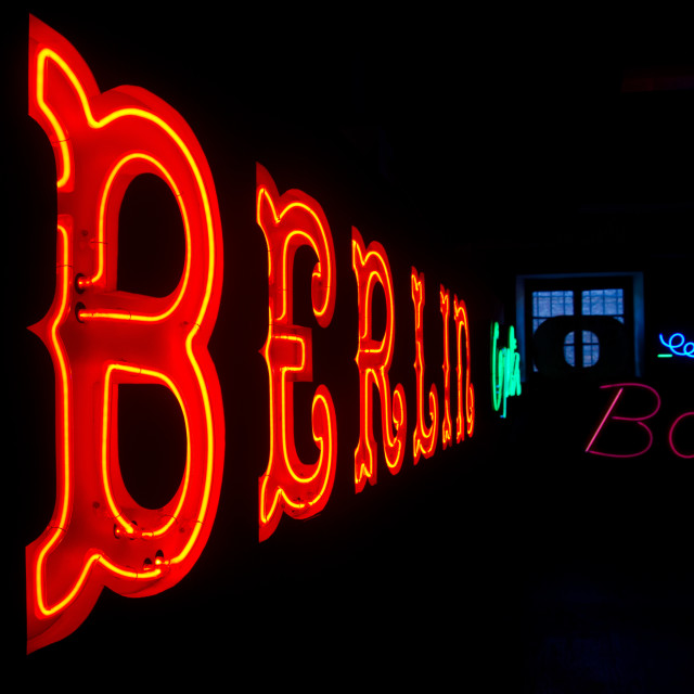 """Berlin Neon"" stock image"