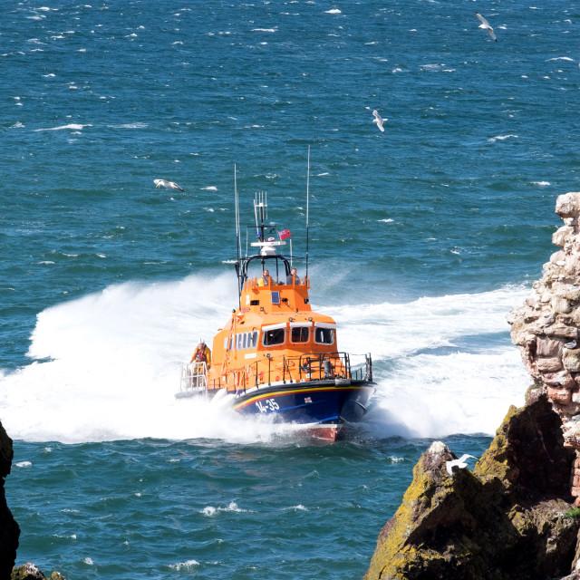 """Dunbar Lifeboat"" stock image"
