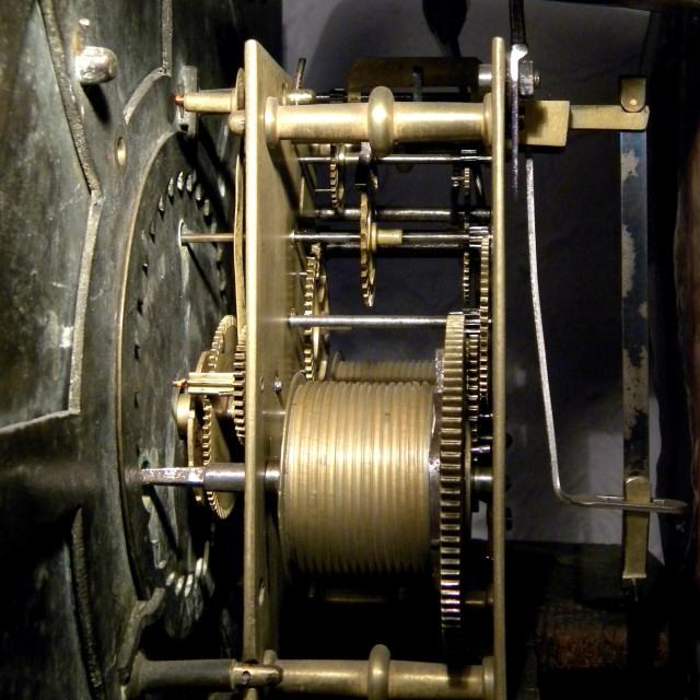 """Clock mechanism"" stock image"