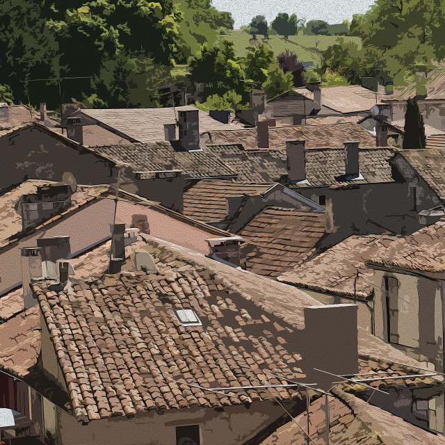 """Roofs"" stock image"