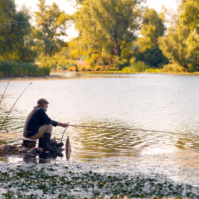 """""""Fishing in the River"""" stock image"""