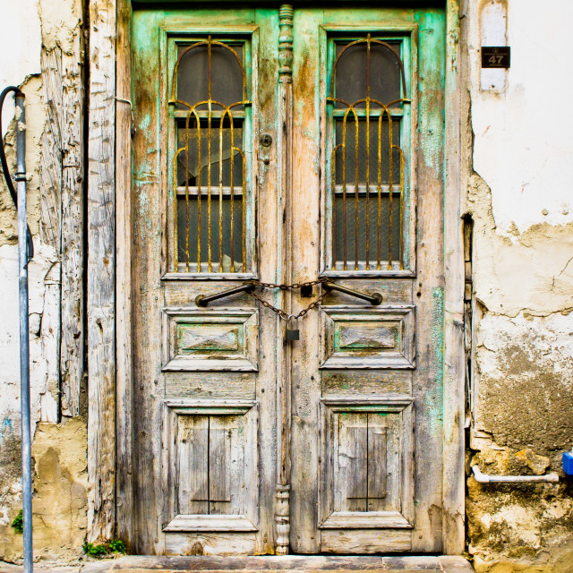 """Old door"" stock image"