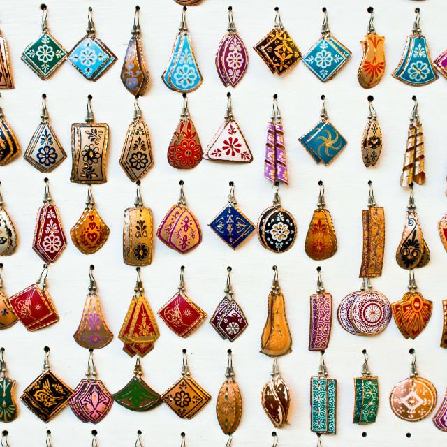 """""""Turkish earrings"""" stock image"""