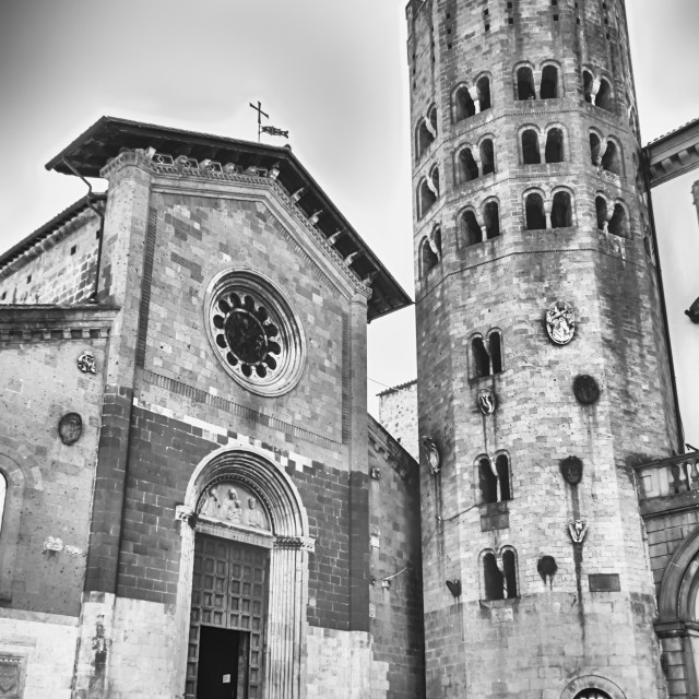 """Medieval Church of St. Andrea, Orvieto, Italy"" stock image"