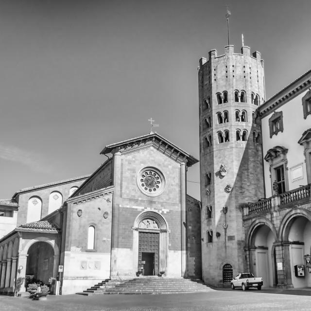 """Medieval Church of St. Andrea, Orvieto, Italy"" stock image"