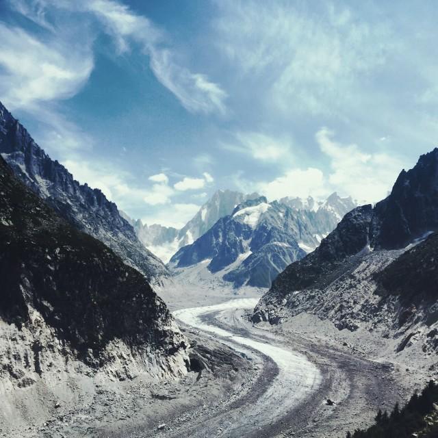 """""""Sur le montagne"""" stock image"""