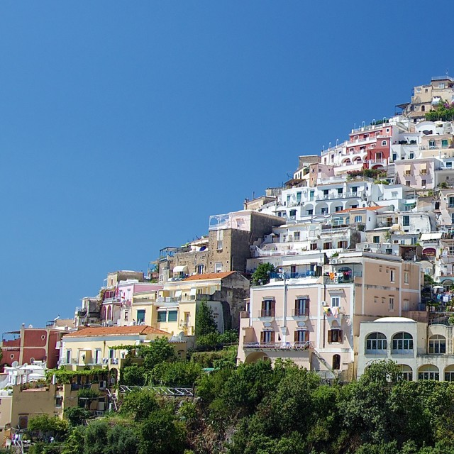 """Houses in Positano, Italy"" stock image"