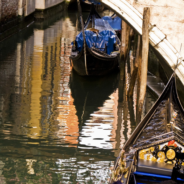 """""""Canal Reflections, Venice"""" stock image"""