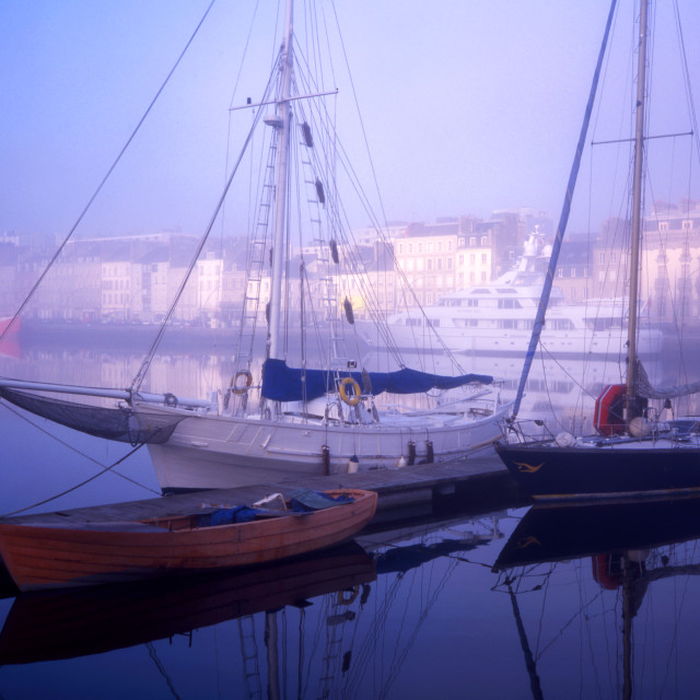 """""""Cherbourg - Misty Morning"""" stock image"""