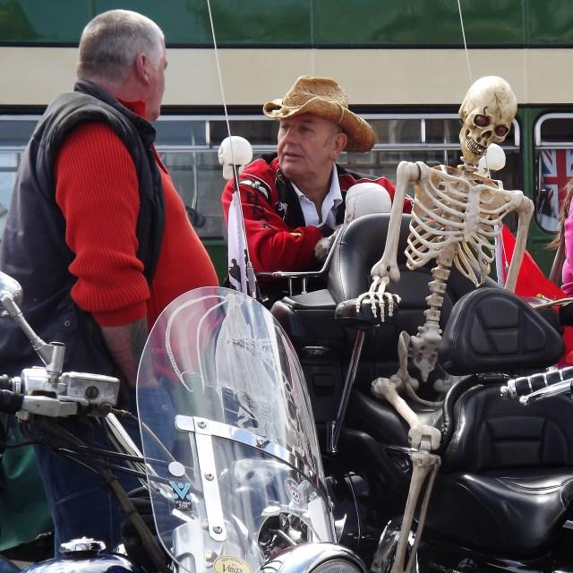 """""""Skeleton rider"""" stock image"""