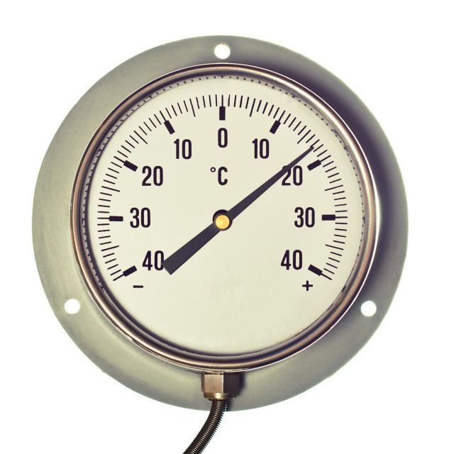 """Industrial Celsius Thermometer"" stock image"