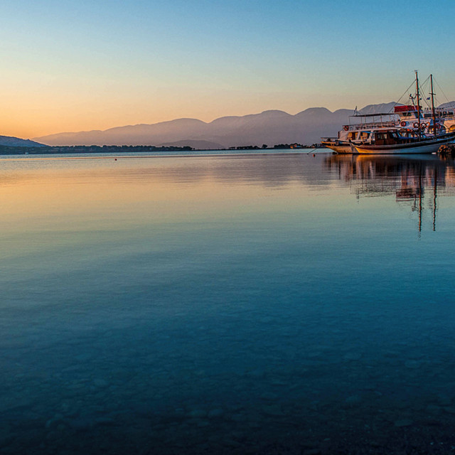 """Early morning light, Elounda"" stock image"