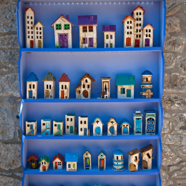 """Houses on the shelves"" stock image"