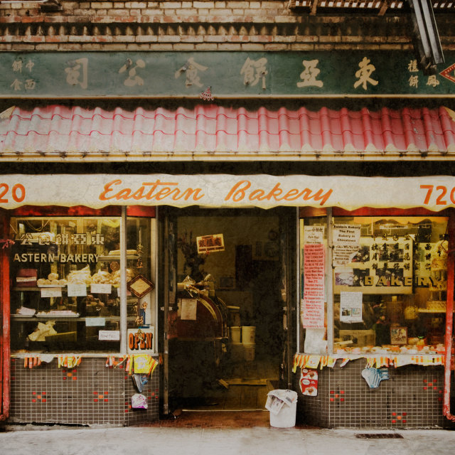 """Eastern Bakery, San Francisco"" stock image"