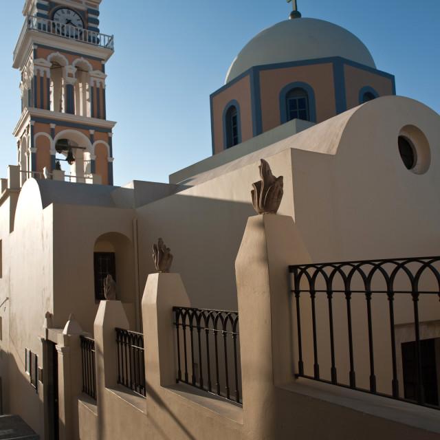 """Church in Fira, Santorini"" stock image"