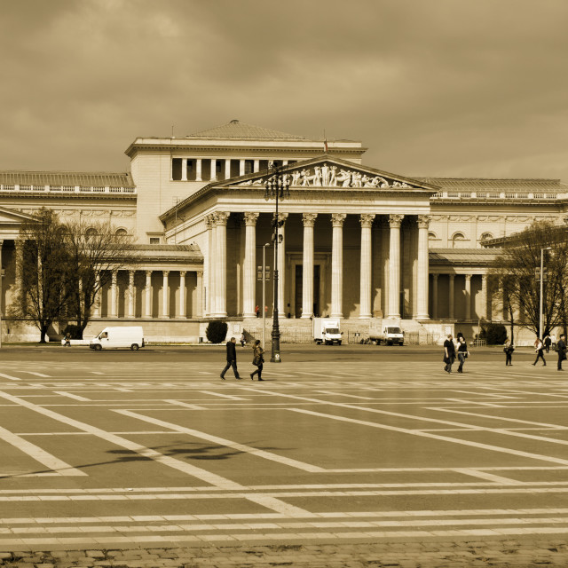 """Hungarian Fine Arts Museum, Budapest"" stock image"