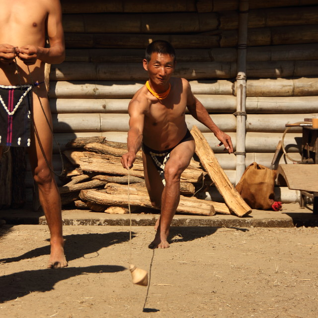 """Traditional game at hornbill festival"" stock image"