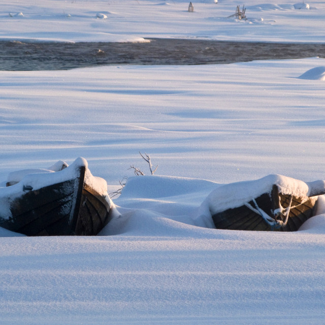 """""""Frozen Boats"""" stock image"""