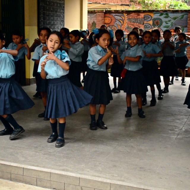 """""""Kathmandu school"""" stock image"""