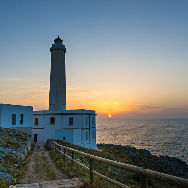 """""""Lighthouse - Otranto"""" stock image"""