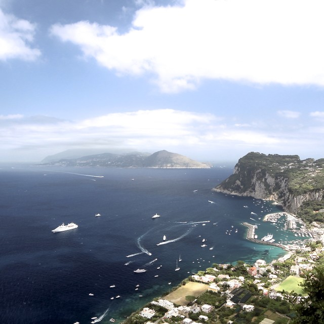 """The view from Capri to the mainland"" stock image"
