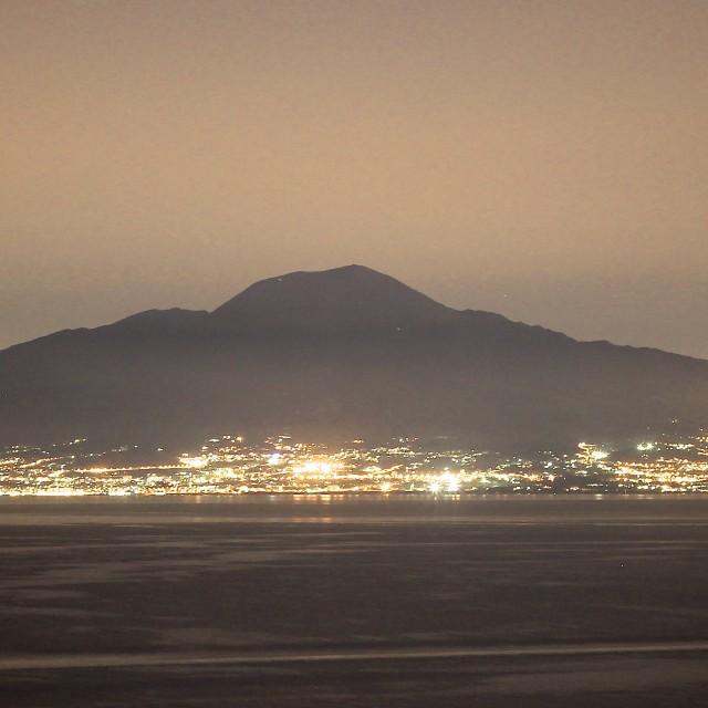 """Long exposure of Mount Vesuvius"" stock image"
