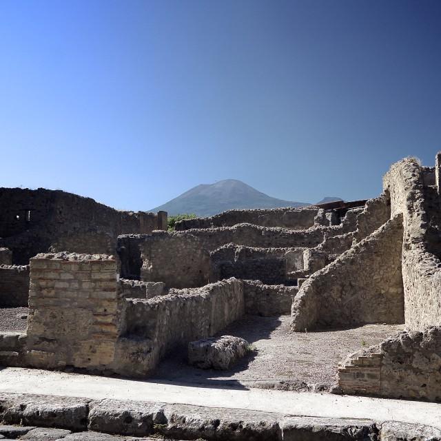 """Pompeii and Vesuvius"" stock image"