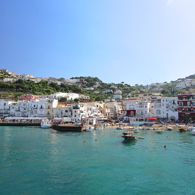 """Harbour at Capri"" stock image"