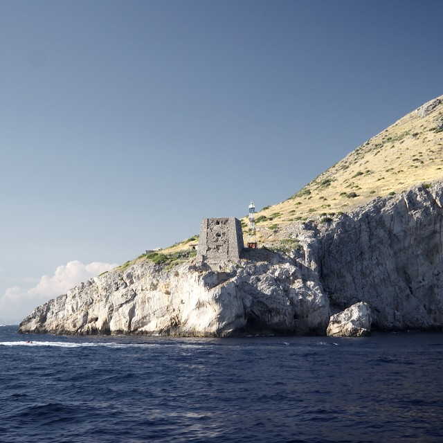 """Fort in the Bay of Naples"" stock image"