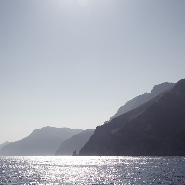 """""""Cliffs in the Bay of Naples"""" stock image"""