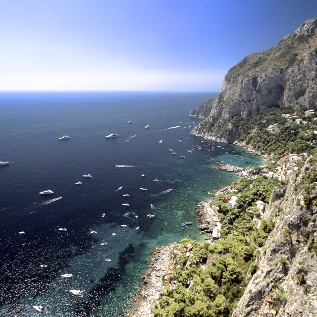"""Boats by Capri"" stock image"