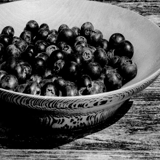"""Rustic blueberries"" stock image"