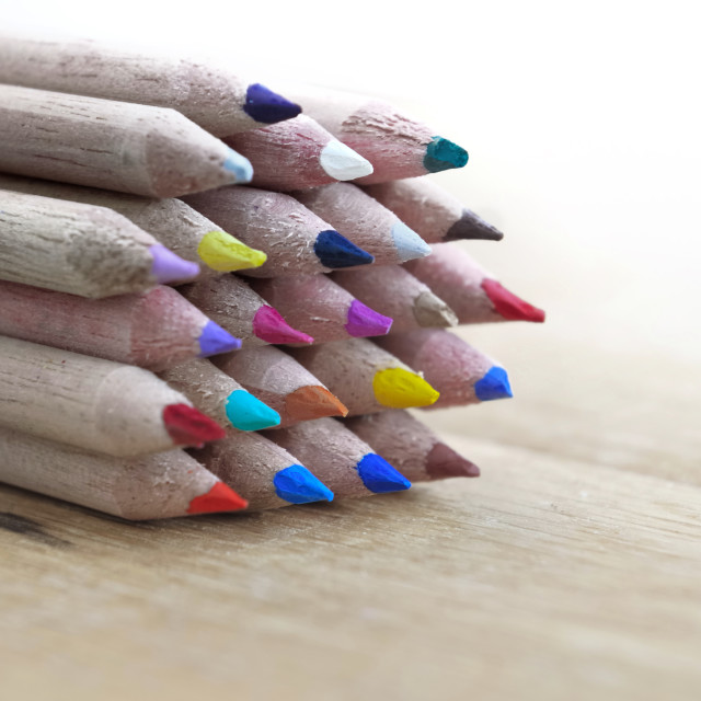 """colors wooden pencils"" stock image"