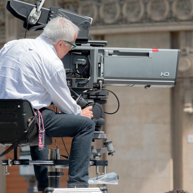 """Cameramen"" stock image"