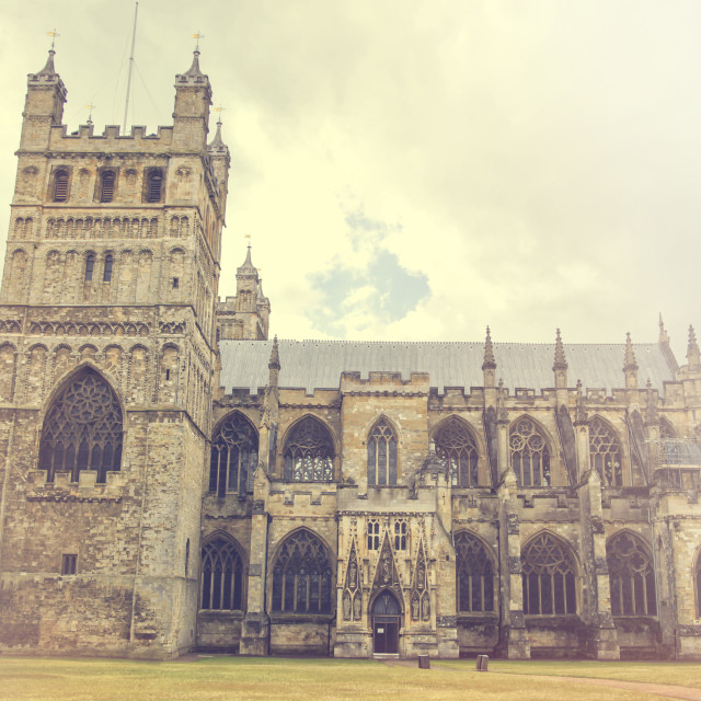 """""""Exeter cathedral"""" stock image"""