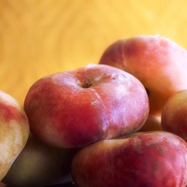 """""""Saturn peaches"""" stock image"""