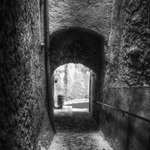 """Old alleys"" stock image"