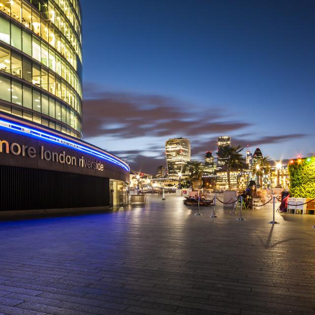"""more London riverside"" stock image"