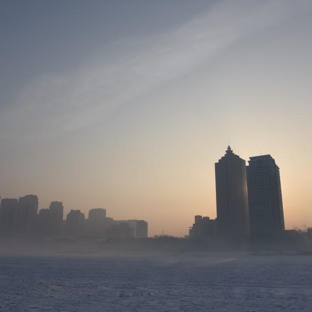 """Frozen city"" stock image"