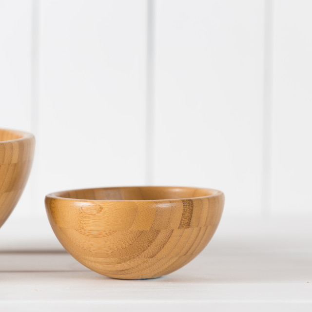 """Wooden bowl"" stock image"