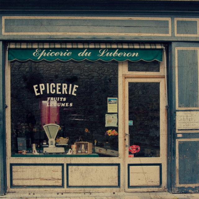 """""""Shop in the Luberon"""" stock image"""