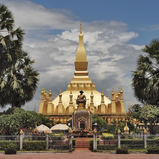 """Pha That Luang Trees"" stock image"