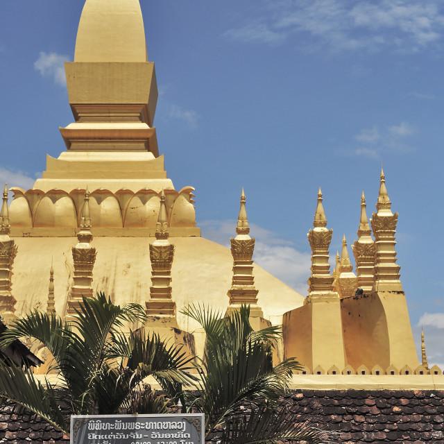 """Pha That Luang Sign"" stock image"