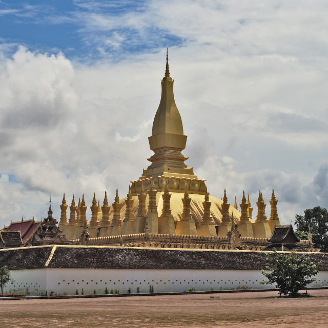 """Pha That Luang View"" stock image"