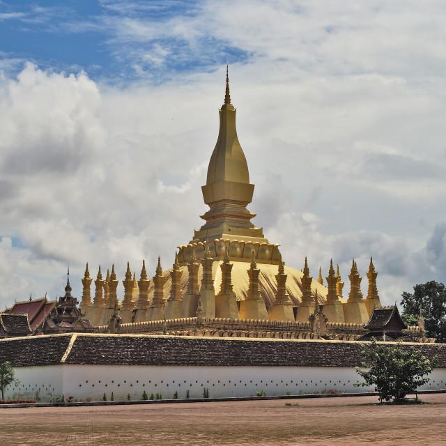 """Pha That Luang View"" stock image"