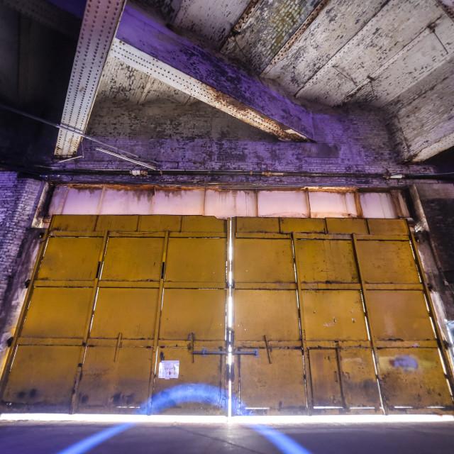 """Warehouse Doors"" stock image"